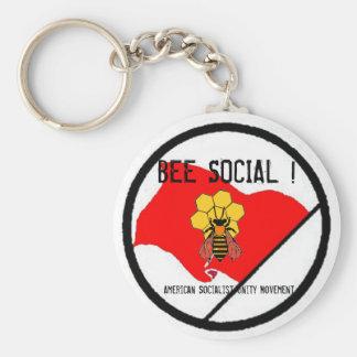 American Socialist Unity Movement Basic Round Button Keychain