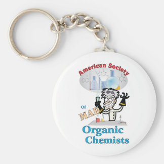 American Society of Mad Organic Chemists Basic Round Button Keychain