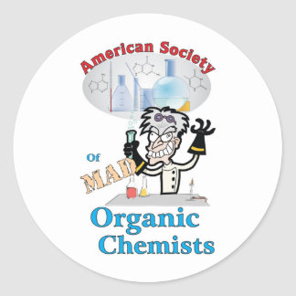 American Society of Mad Organic Chemists Classic Round Sticker