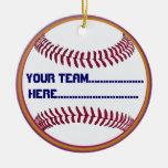 American Softball charm and Souvenir Christmas Ornament