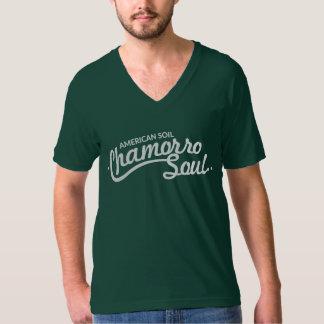 American Soil, Chamorro Soul Men's V-Neck T-Shirt
