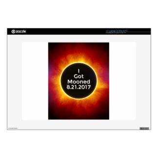 "American Solar Eclipse Got Mooned August 21 2017.j 15"" Laptop Skins"