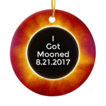 American Solar Eclipse Got Mooned August 21 2017.j Ceramic Ornament