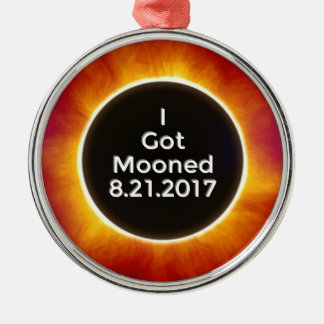 American Solar Eclipse Got Mooned August 21 2017.j Metal Ornament