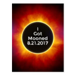 American Solar Eclipse Got Mooned August 21 2017.j Postcard