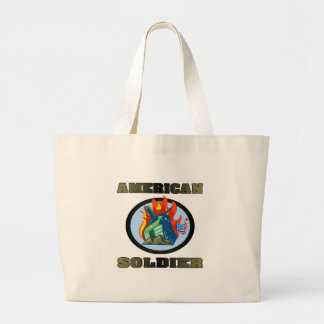 American Soldier Tote Bags
