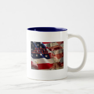 American Soldier Blessing Two-Tone Coffee Mug