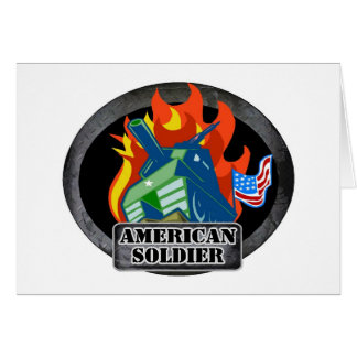 American Soldier Card