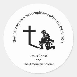 American Soldier Classic Round Sticker