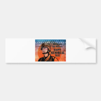 American soldier military serviceman hero vintage car bumper sticker