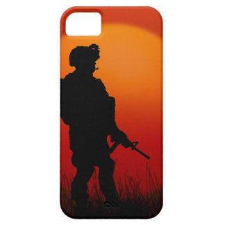 American Soldier on Patrol Military iPhone SE/5/5s Case