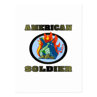 American Soldier Postcard