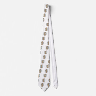 American Soldier Waving USA Flag Crest Drawing Tie