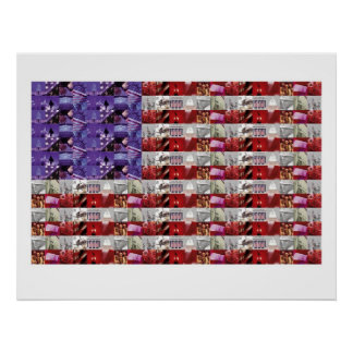 American Soldiers Flag Poster