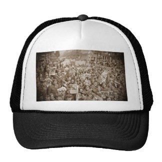 American Soldiers on  VJ Day Hat