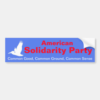 American Solidarity Party Bumper Sticker