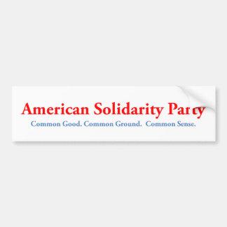 American Solidarity Party Bumper Sticker