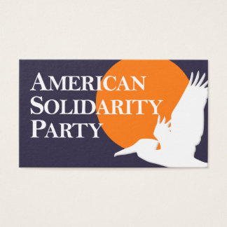 American Solidarity Party Business Card with Logo