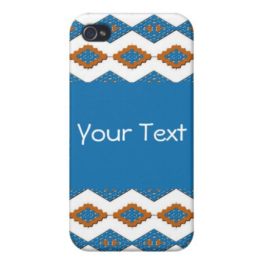 American Southwest Blue and Gold iPhone 4 Case