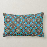 American Southwest Turquoise & Silver Jewelry Throw Pillow