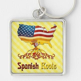 American Spanish Roots Keyring