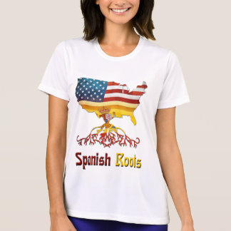 American Spanish Roots T Shirts