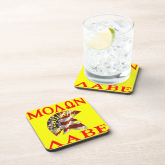 American Spartan Molon Labe Beverage Coaster