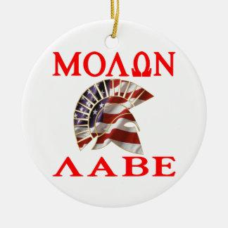 American Spartan Molon Labe Christmas Ornaments