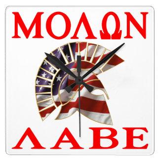 American Spartan Molon Labe Wall Clock