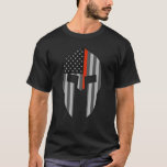 American Spartan Thin Red Line T-shirt at Zazzle