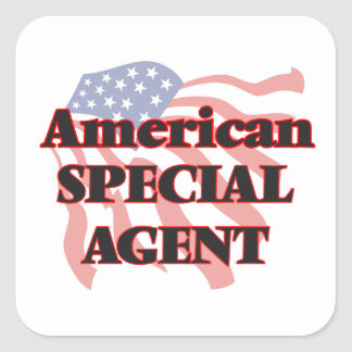 American Special Agent Square Sticker