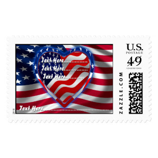 American Spirit Change the Background View Notes Postage Stamps