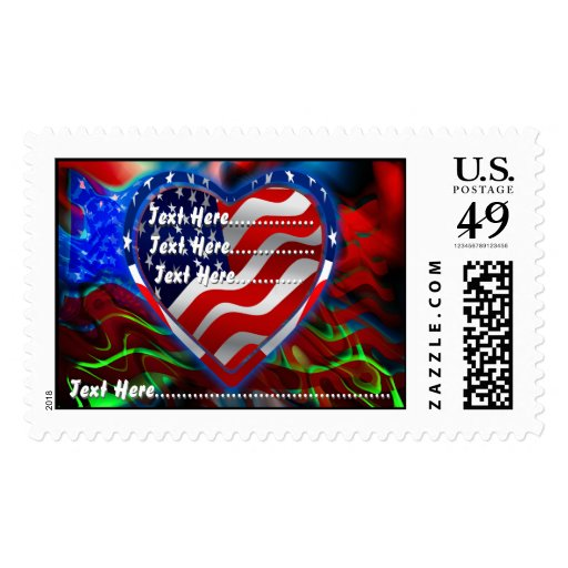 American Spirit Change the Background View Notes Postage Stamp