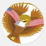 American Spirit Classic Round Sticker