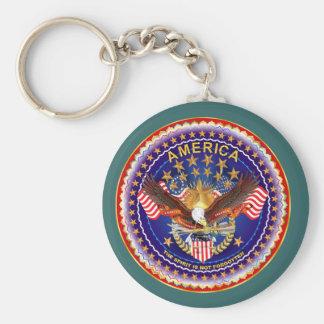 American Spirit Is Not Forgotten Key Chain Round