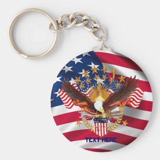 American Spirit Is Not Forgotten V 2 Key Chain Rnd