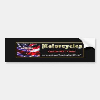 American Spirit Motorcycles Fan Bumper Sticker Car Bumper Sticker