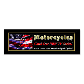 American Spirit Motorcycles Skinny AD Card Business Cards