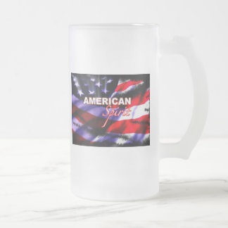 American Spirit Motorcycles TV Show 16 Oz Frosted Glass Beer Mug