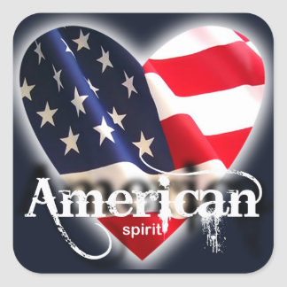 american spirit square sticker