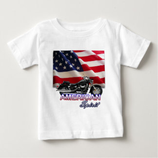 American Spirit TV Motorcycle Show Baby T-Shirt