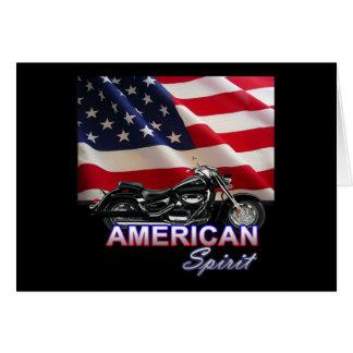 American Spirit TV Motorcycle Show Card