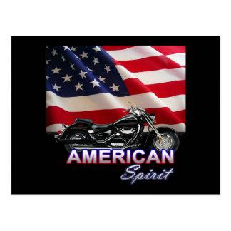 American Spirit TV Motorcycle Show Postcard