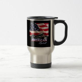 American Spirit TV Motorcycle Show Travel Mug