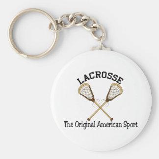 American Sport Basic Round Button Keychain