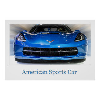 American Sports Car Poster