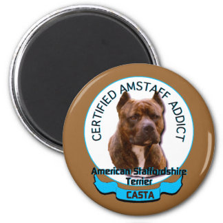 American Staffordshire Addict Magnet