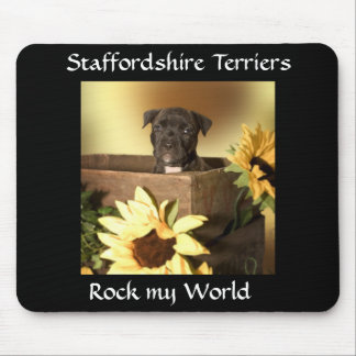 American Staffordshire  Bull Terrier Puppy Mouspad Mouse Pad