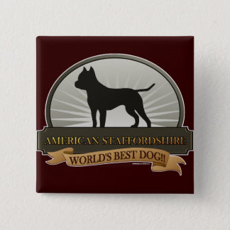 American Staffordshire Pinback Button