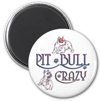 American Staffordshire PIT BULL TERRIER 2 Inch Round Magnet